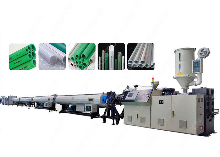 PPR Plastic Pipe Extrusion Line , Automatic Cold / Hot Water Pipes Production Line