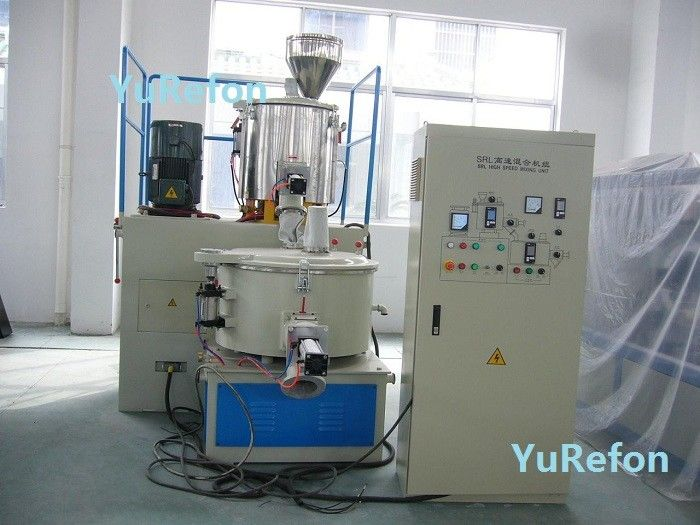 Vertical Plastic PVC Mixer Machine Frequency Inverter Control With Heating Cooling Mixer