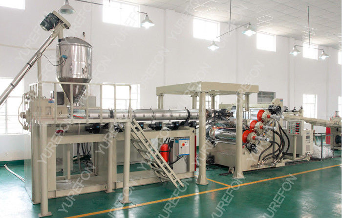 Automatic Sheet Extruder Production Line With PET Non - Crystallization Extruding System