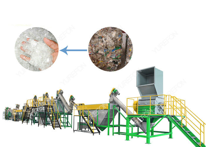 300 - 1500 Kg/H PET Bottle Plastic Washing Recycling Machine with Stainless Steel High Speed Friction Washing